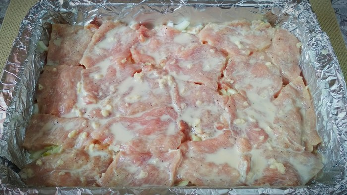 Мясо в «Красной мантии» - сочное! Рецепт, Жуй-Ка!, Свинина, Майонез, Готовим дома, Длиннопост, Кулинария