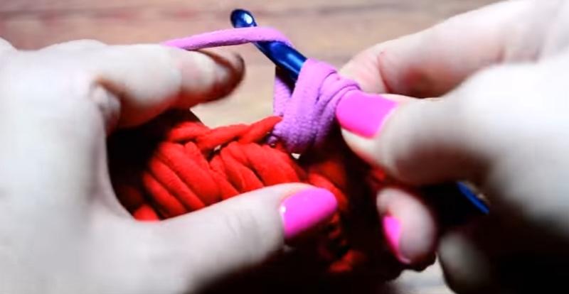 Как связать корзину для мелочей из трикотажной пряжи