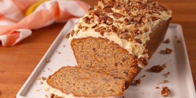 Банановые пироги: Бананово-морковный пирог со сливочным кремом