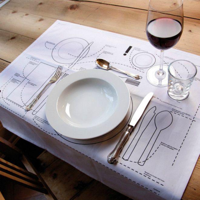 Столовая салфетка с рисунками