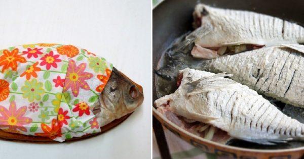 Научился ловко жарить рыбу и заодно мясо на сковороде: добился идеального вкуса