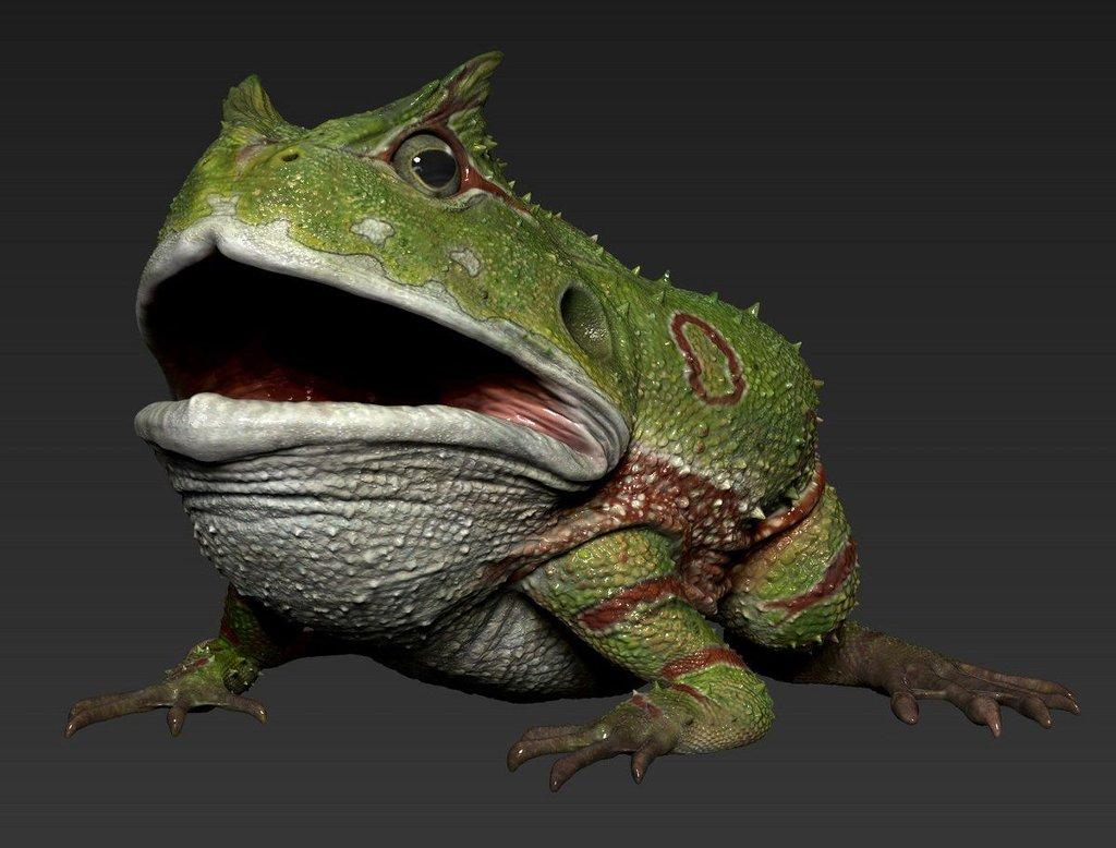 В древности на Земле жили лягушки-гиганты, которые ели динозавров