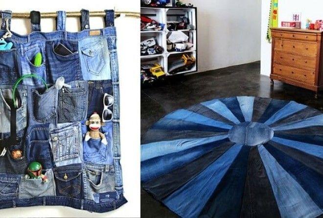 15 красивых поделок из старых джинсов
