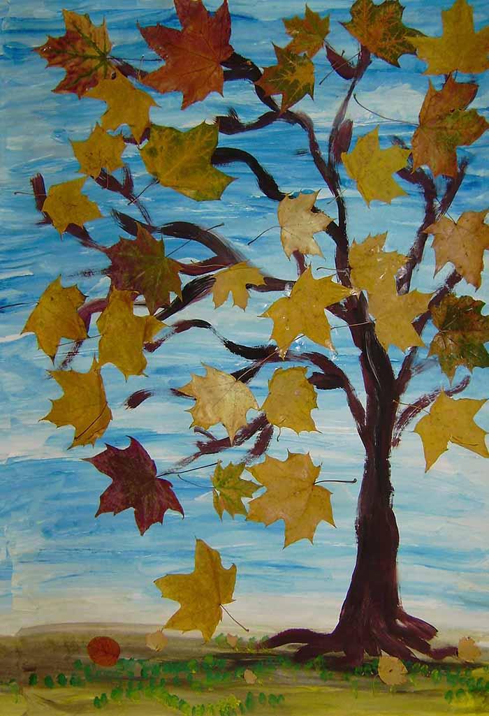 Подделка рисунок на тему осень