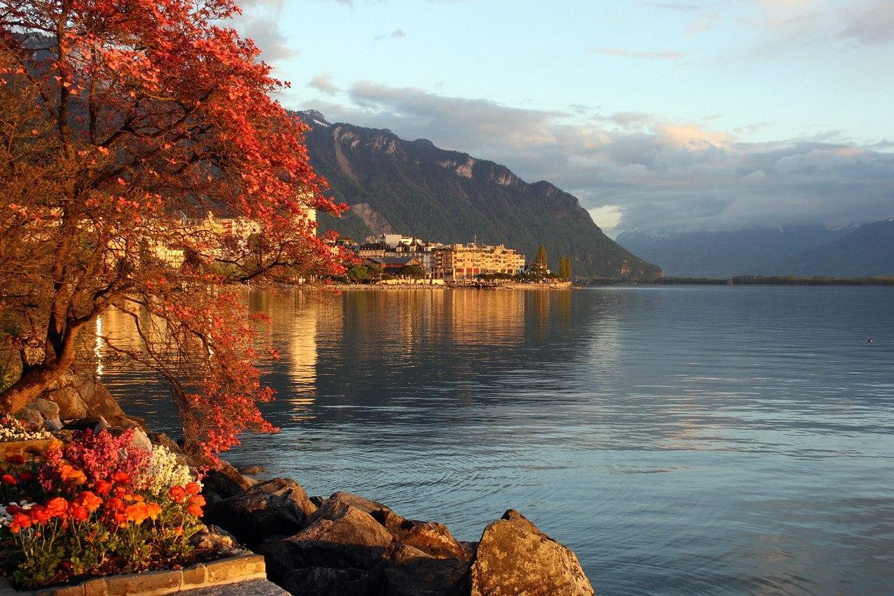 Женевское озеро — бирюзовое зеркало Швейцарских Альп
