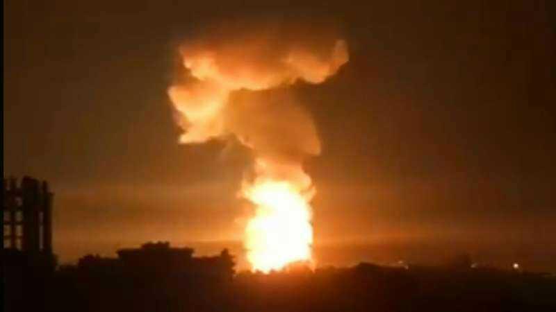 Ракетный обстрел Сирии