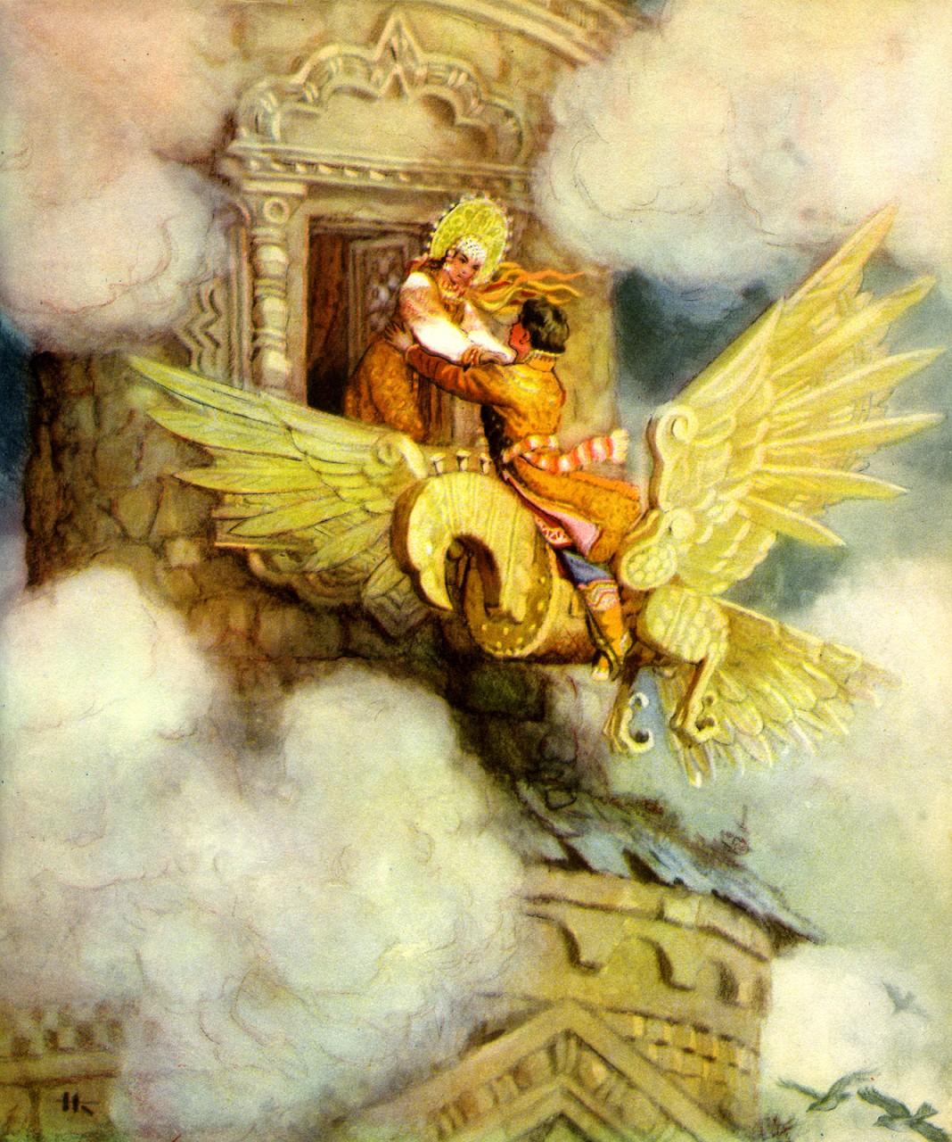 Папам дедушкам, открытки русские волшебные сказки