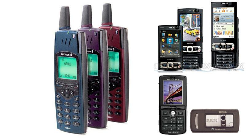 Легендарные телефоны прошлых лет