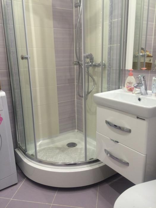 Ремонт санузла, санузел в хрущевке, душевая кабинка в ванную