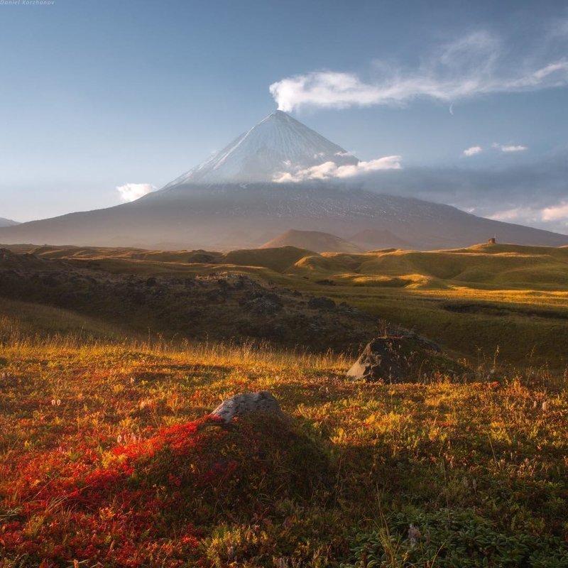 Страна вулканов, Камчатка горы, леса, природа, природа России, российская природа, россия
