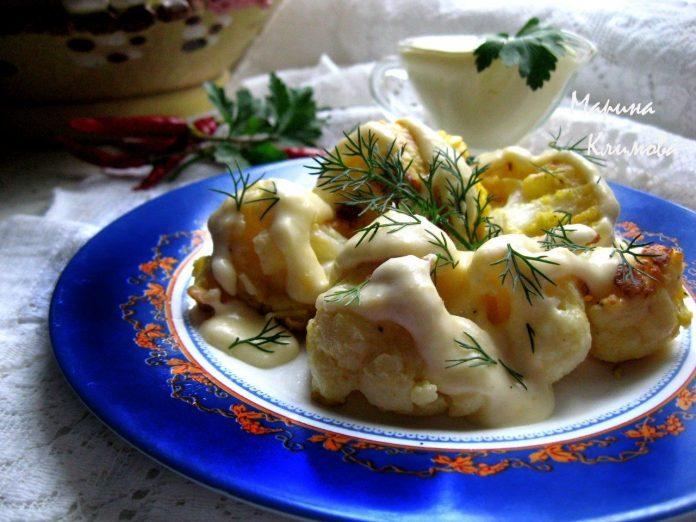 Цветная капуста в кляре с сырным соусом — лучшая закуска этим летом