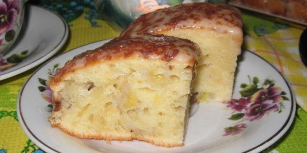 Банановый пирог со сметанно-банановым кремом