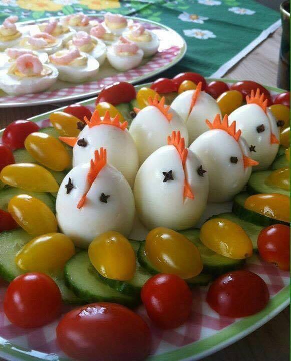 Оригинальные закуски из яиц на пасхальный стол