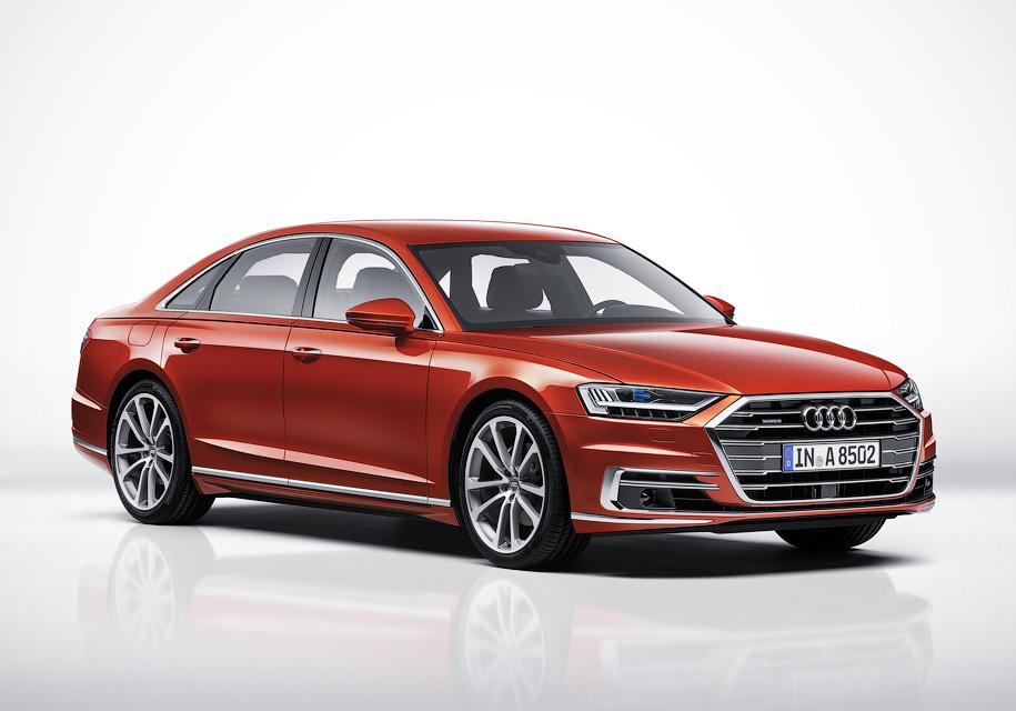 Новая Audi A8: «подпрыгивающ…