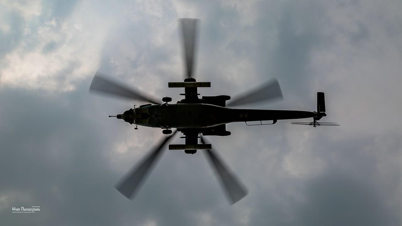 Летно-тактические учения боевых вертолетов в Восточном военном округе