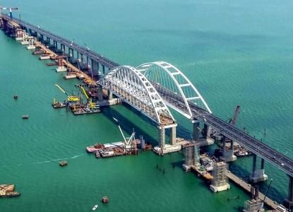 Крымский мост прогнулся