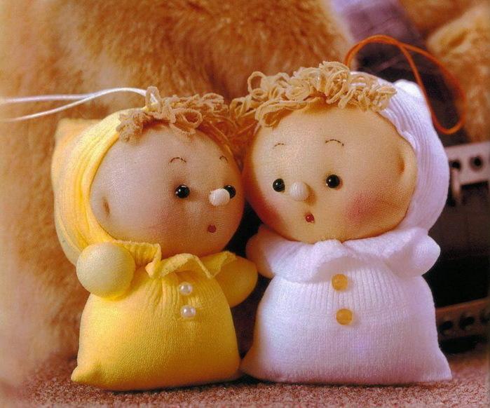 Кукла-пупс из носка