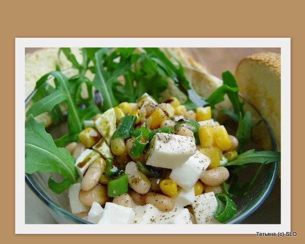 Фасолевый салат с моцареллой. Татьяна (с) SLO