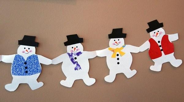 новогодние снежинки и гирлянды своими руками