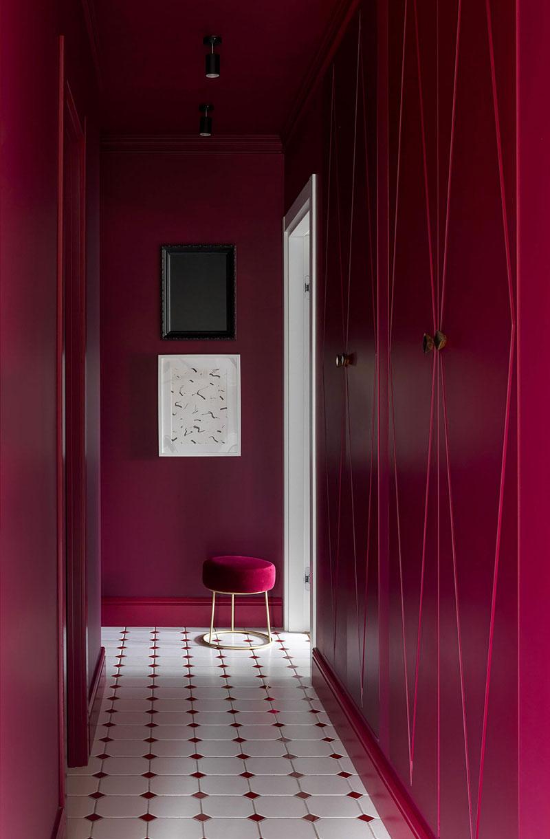 Смелая покраска стен в маленькой квартире для девушки в Москве  идеи для дома,интерьер и дизайн