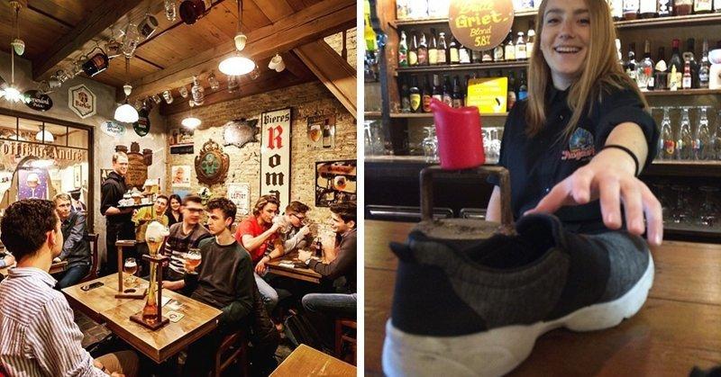 В этом бельгийском баре каждого посетителя просят сдать один ботинок