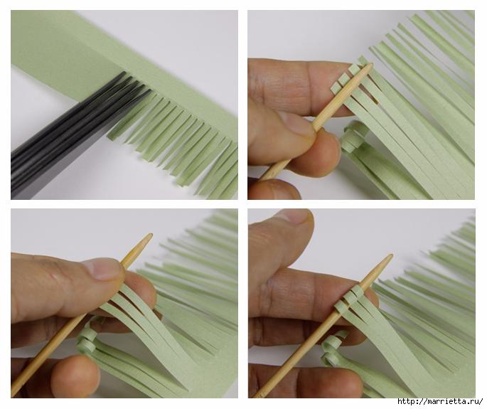 Хризантемы из бумаги. Фото мастер-класс (9) (685x575, 230Kb)