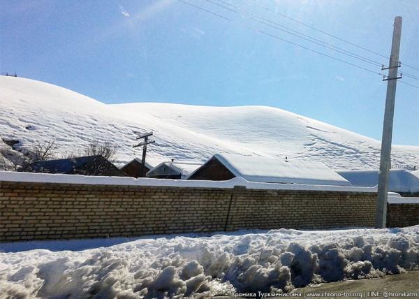 ВТуркмении власти отказались убирать снег: «Все вруках Аллаха!»