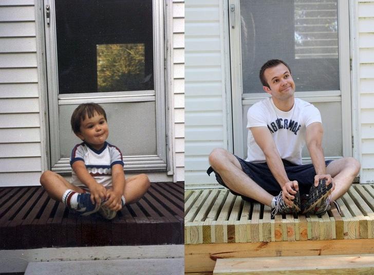 25человек воссоздали свои детские фото, иполучилось уморительно