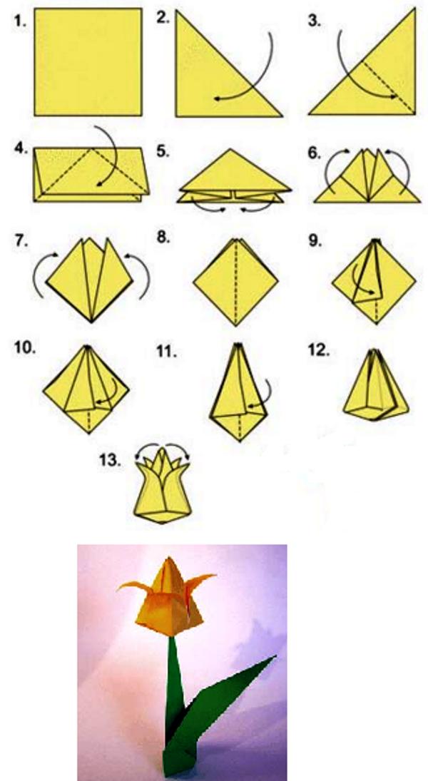 картинки как делать поделки оригами следующий