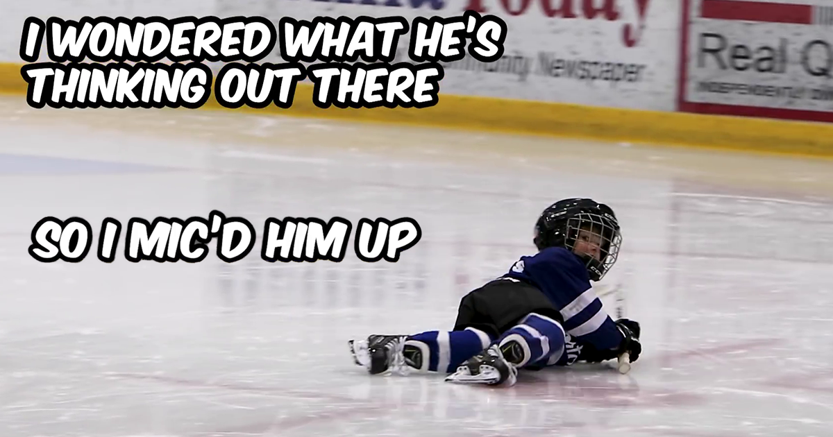 """""""I Mic'd Up My 4-Year-Old At Timbits Hockey So I Could Finally Understand What The Heck He Was Doing Out There"""""""
