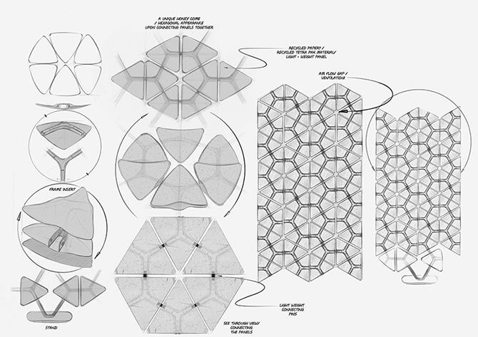 Дизайн звукопоглощающей стены Benjamin Hubert