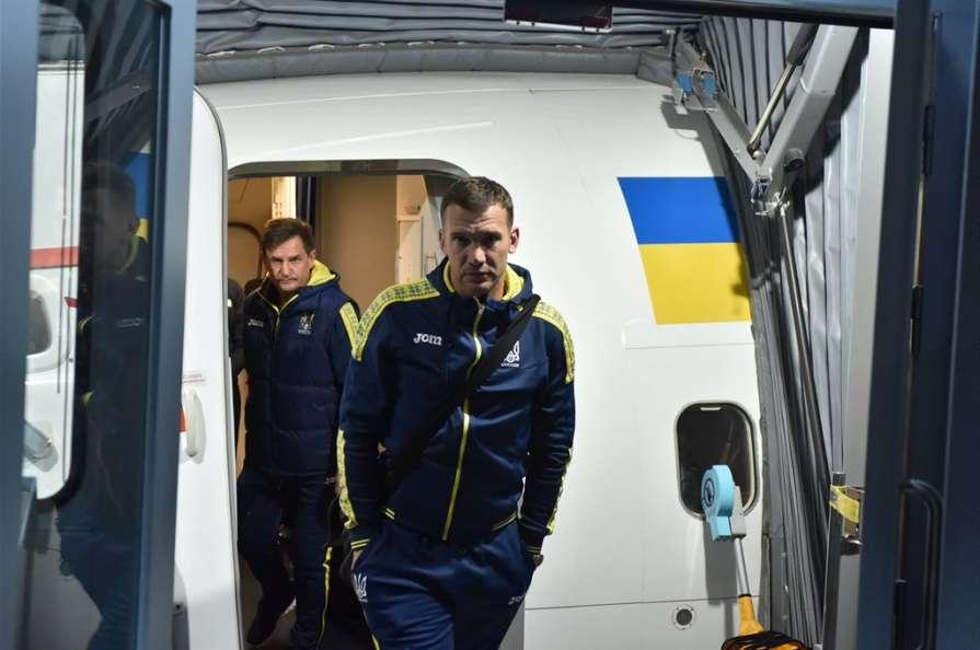 Сборная Украины прибыла в Испанию