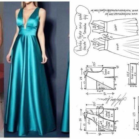 Хотите сшить платье в пол своими руками - смотрите идеи и выкройки выкройки,платье в пол,сделай сам