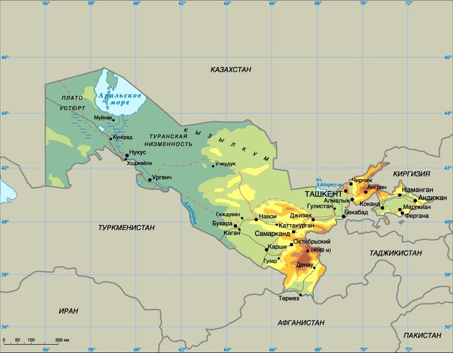 Картинки по запроÑу карту УзбекиÑтана