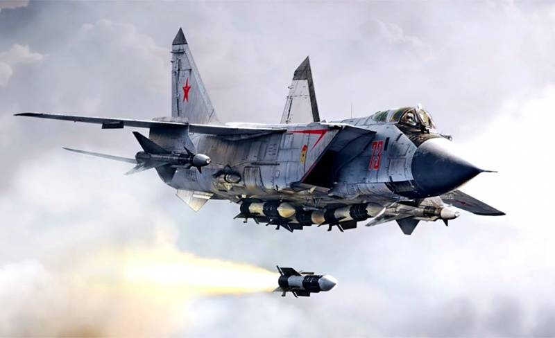 Перехват сверхзвуковой крылатой ракеты экипажем самолета МиГ-31
