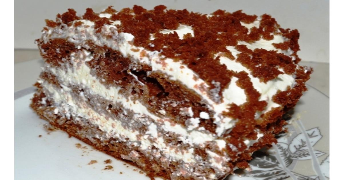 Очень вкусный торт «Чёрный принц» на кефире. По семейному домашнему рецепту.