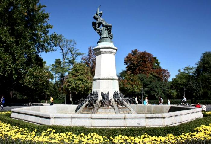 Фонтан, чья высота совпадает с числом Люцифера. /Фото: guias-viajar.com