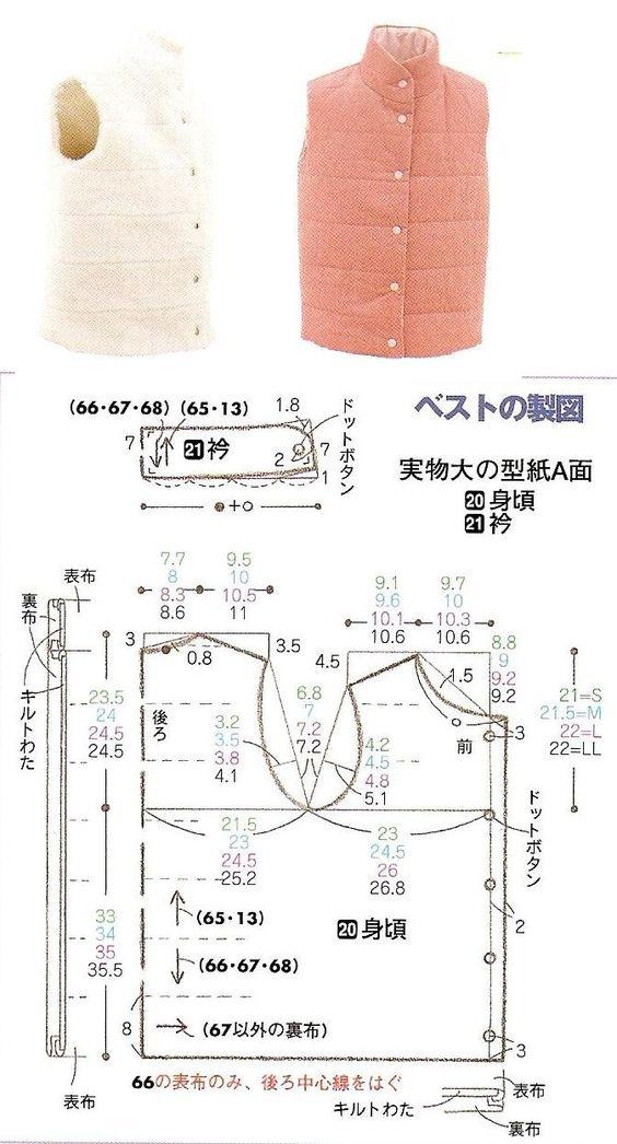 Выкройка жилетки под пальто