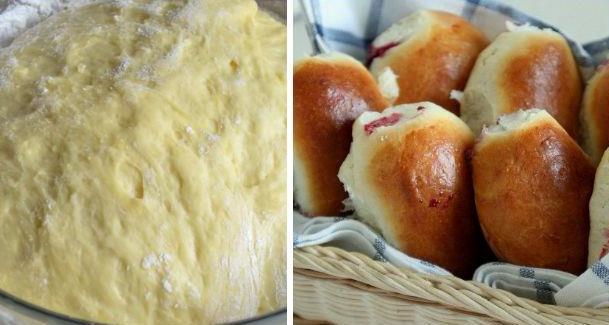 Пирожки для лентяев. Тесто мягкое, к рукам не прилипает, хорошо лепится и пирожки не разваливаются