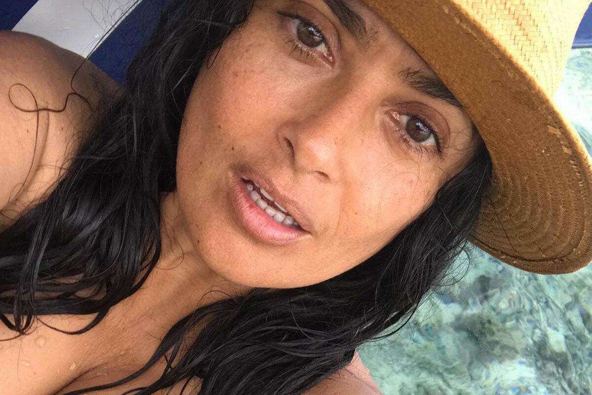 Сальма хайек без макияжа фото