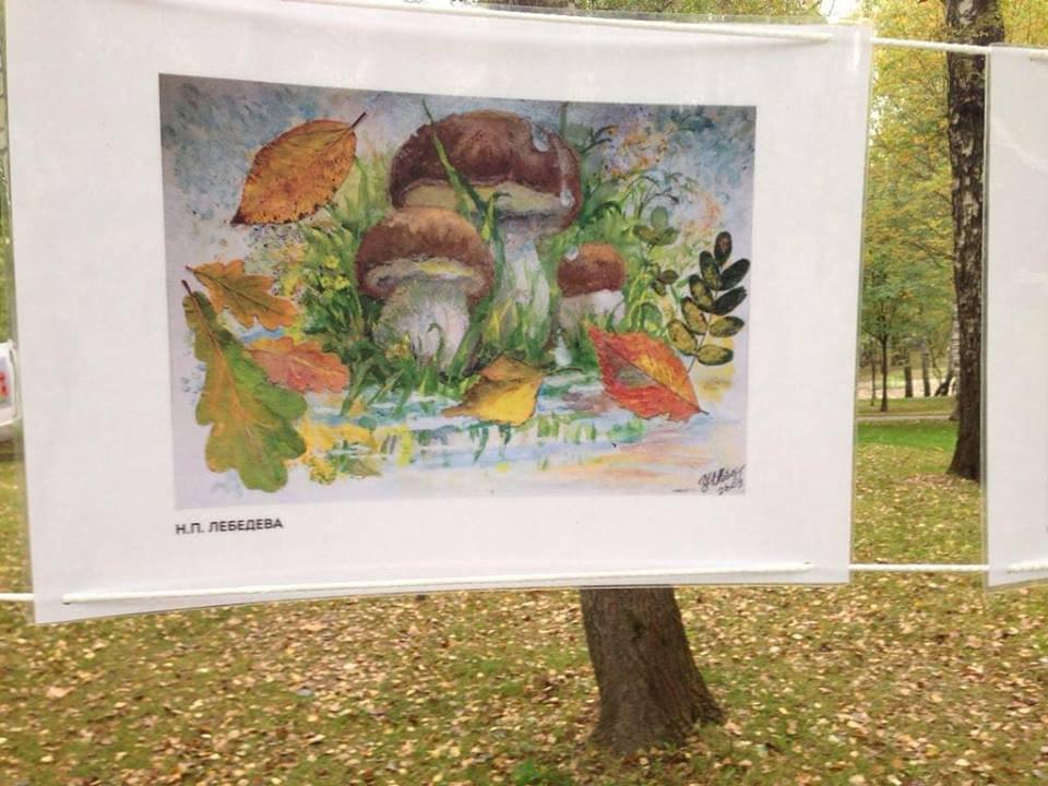 Участники проекта «Московское долголетие» выставили свои картины на открытом вернисаже в Лианозовском парке СВАО