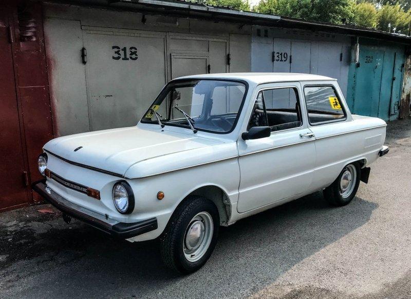 Белый цвет — самый распространенный для подобных машин ЗАЗ 968, авто, автомобили, заз, запорожец, капсула времени, ретро авто, янгтаймер