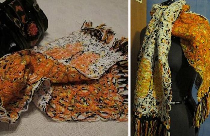 шарф своими руками без спиц