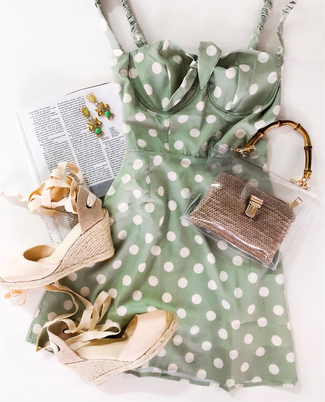 Игривый и женственный горошек - 10 образов с одним из любимых принтов прекрасного пола мода,модный обзор,Наряды,образ,Платья,Стиль,тенденции