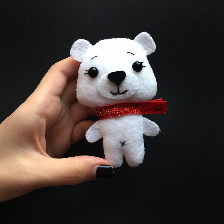 Невероятно сказочный и милый медвежонок из фетра. Мастер класс