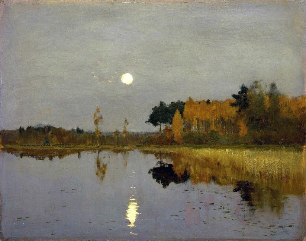 Исаак Левитан. Сумерки. Луна. 1899. Русский музей