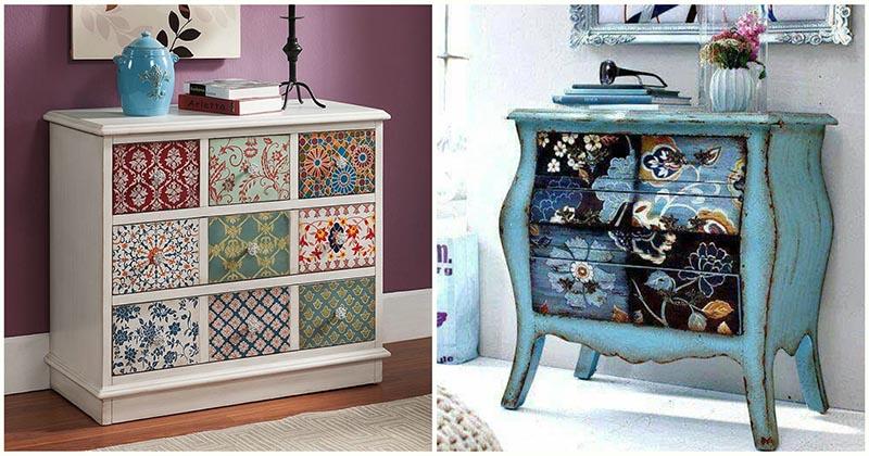 Впечатляющий декор старой мебели: 15 ярких идей