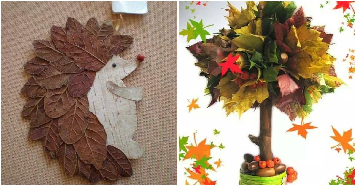 Осеннее творчество: когда каждый листочек при деле