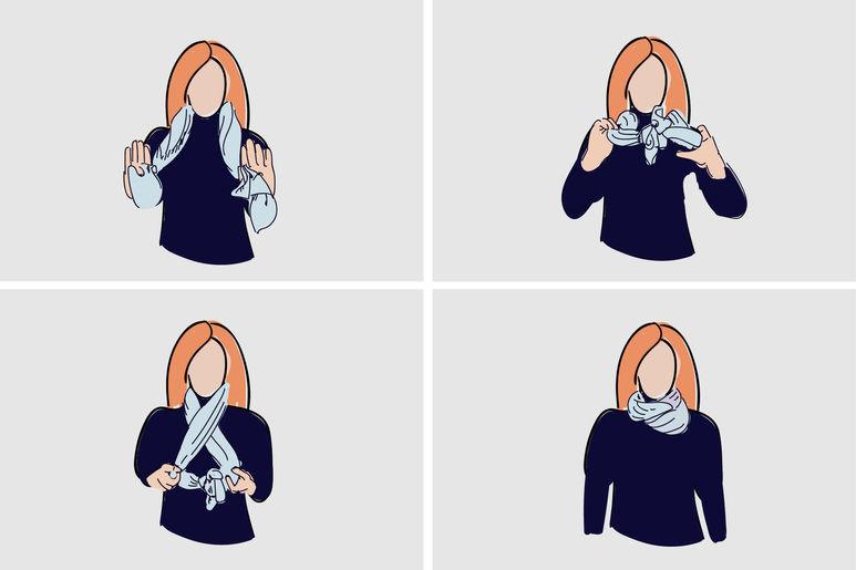 как завязать платок инструкция