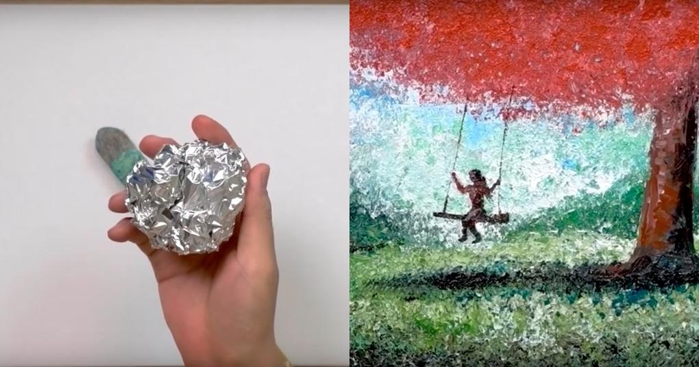 Нестандартное применение алюминиевой фольги, которое превратит вас в талантливого художника